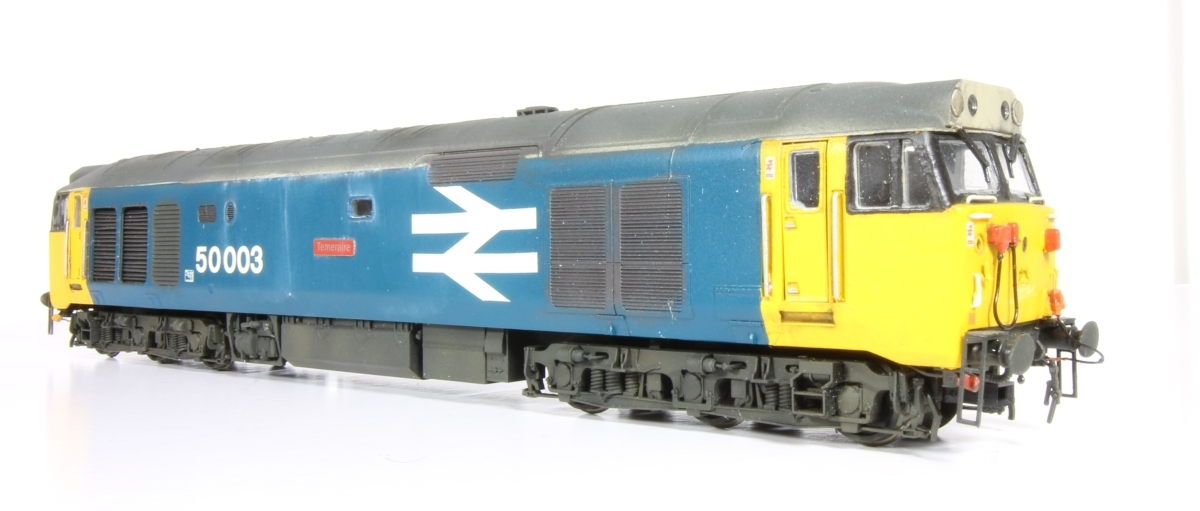 Class 50 50003 'Temeraire' - A repaint from Network SouthEast livery into Large logo blue then weathering.