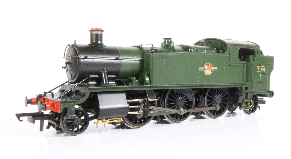 GW Large Prairie 6155 - Started out as the latest Hornby Large Prairie in GWR livery has had the handrails modified and bunker footsteps added before being repainted.
