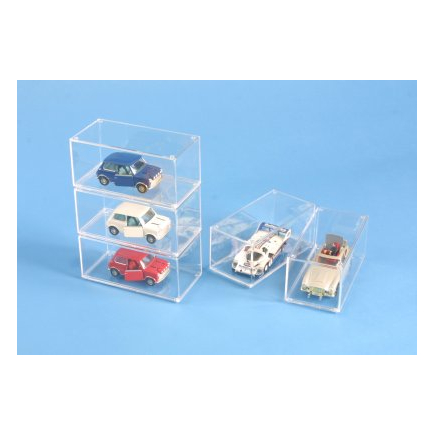 Amjo Boxes Stackable 1:43 Clear Display Case - Ideal for Model Cars