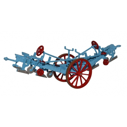 Oxford Diecast Fowler Plough Blue and Red