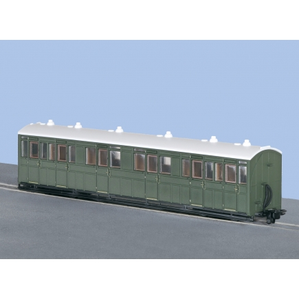 Peco GR-401U OO-9 L&B Composite Coach Green Unlettered