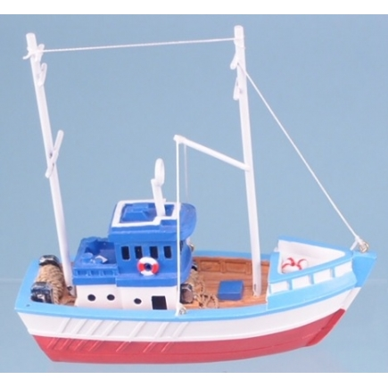 12cm long Resin Fishing Boat