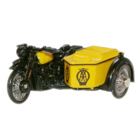 AA BSA Motorcycle and Sidecar