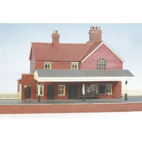 Wills CK16 OO Gauge Country Station Brick Built With Platform