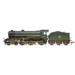 Hornby R3004 B17 4-6-0 61631 'Serlby Hall' BR Green Early Crest - Weathered