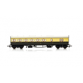 Hornby R4876A GW Collett 57' Bow Ended D98 Six Compartment Brake Third (Left