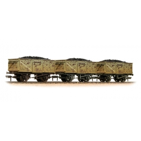 Bachmann 37-239 Triple Pack 16 Ton Steel Mineral Wagon BR Grey with Loads Weathered
