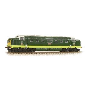 Graham Farish 371-285A N Gauge Class 55 Deltic D9009 'Alycidon' BR Two-Tone Green Small Yellow Panels