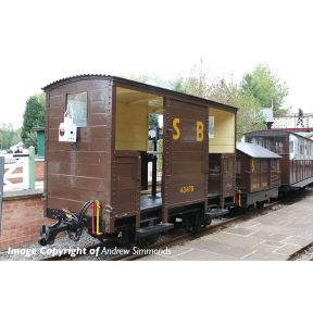 Bachmann 393-101 RNAD Open-End Brake Van Statfold Barn Railway Brown