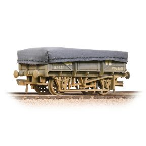 Bachmann 33-088A 5 Plank China Clay Wagon GWR Grey With Tarpaulin Cover