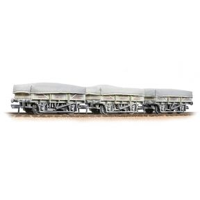 Bachmann 33-091 5 Plank China Clay 3-Wagon Pack BR Bauxite With Tarpaulin