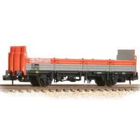 BR OBA Open Wagon High Ends BR Railfreight Red & Grey