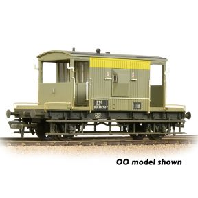Graham Farish 377-529A BR 20T Brake Van BR Engineers Grey & Yellow Weathered