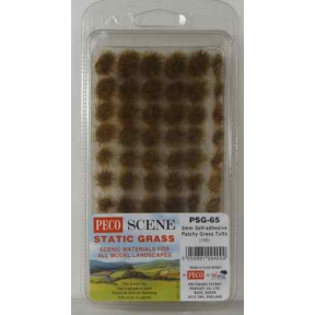 Peco PSG-65 Static Grass 6mm Self Adhesive Patchy Grass Tufts