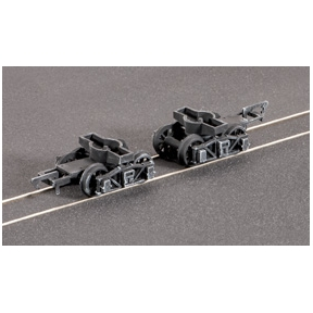 Ratio 125 PR. Diamond Frame Bogies (Spoked wheels)