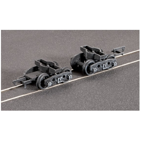 Ratio 126 Pr. GWR Plate Wagon Bogies (spoked wheels)