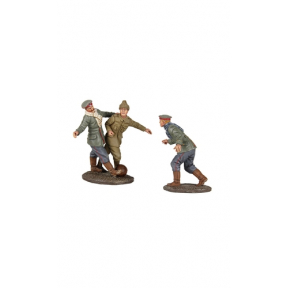 W.Britains 23088 'A Friendly Game' 1914 Christmas Truce Football Set No.1, No Man's Land Football Match