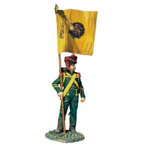 Nassau Grenadier with Regimental Colour 1815