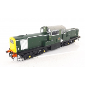 Heljan 1751 O Gauge Class 17 Clayton Unnumbered BR Green Full Yellow Ends