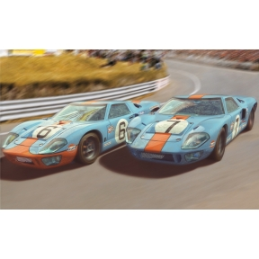 Scalextric Ford GT40 1969 - Gulf Twin Pack