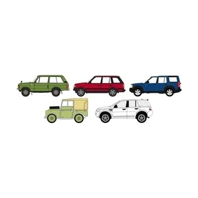 Oxford Diecast 5 Piece Land Rover Classic Set