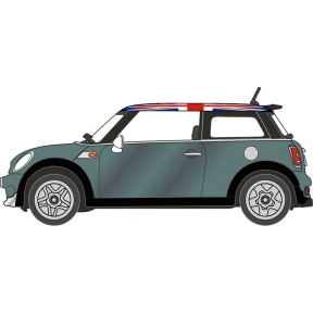 Oxford Diecast NNMN005 New Mini British Racing Green and Union Jack