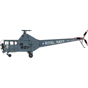 Oxford Diecast Westland Dragonfly Royal Navy WH991 Yorkshire Museum