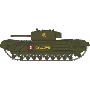 Oxford Diecast Churchill Tank 51st RTR UK 1942