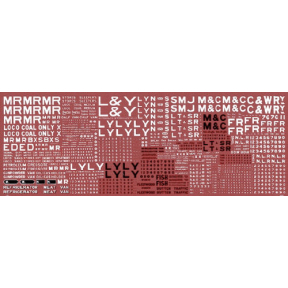 HMRS Transfers Sheet 17 OO Gauge LMS English Pre-grouping Goods Vehicle Insignia