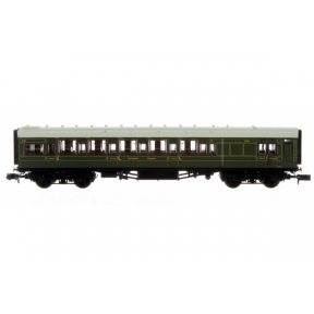 Dapol 2P-014-020 N Gauge Maunsell High Window Coach BTK (6 Compartment) SR Olive Green