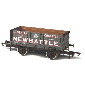 Oxford Rail OR76MW4005 4 Plank Coal Wagon 'Lothian Coal' No.792