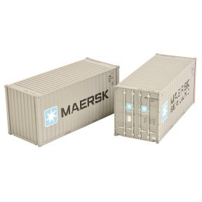 Bachmann 36-126 20ft Containers 'Maersk' (x2)