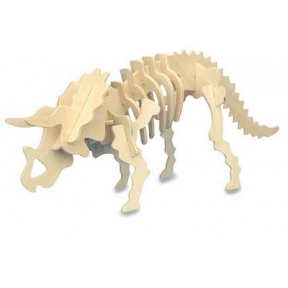 Triceratops Woodcraft Construction Kit