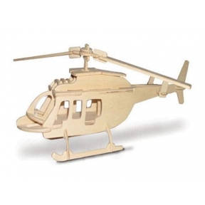 Bell 206 Helicopter Woodcraft Construction Kit