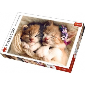 Sleeping Kittens 500 Piece Puzzle