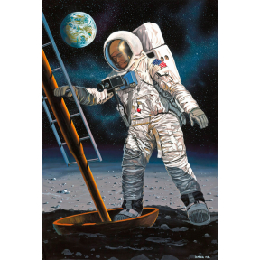 Gift Set Apollo 11 Astronaut on the Moon (1 8 Scale)