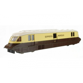 Dapol 4D-011-100 GW Streamlined Railcar 17 Express Parcels Chocolate & Cream