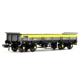 Dapol 4F-043-011 OO Gauge Turbot Bogie Ballast Wagon BR Grey & Yellow Dutch