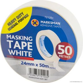 Masking Tape 24mm x 50mm White