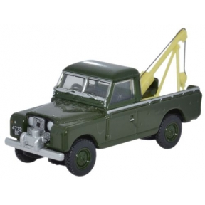 Oxford Diecast Land Rover Series II Tow Truck Bronze Green