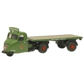 Oxford Diecast BRS Parcels Scammell Scarab Flatbed Trailer