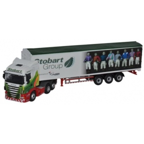 Oxford Diecast Scania Highline Walking Floor Stobart Ascot Champions Day
