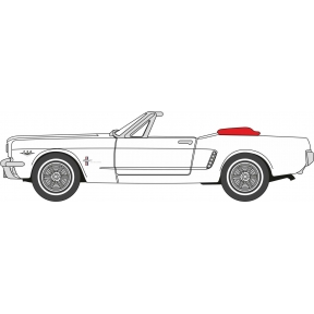 Oxford Diecast Wimbledon White Ford Mustang Convertible 1965