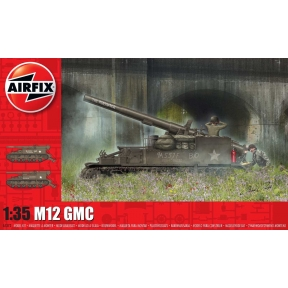 Airfix A1372 M12 Gun Motor Carriage Plastic Kit
