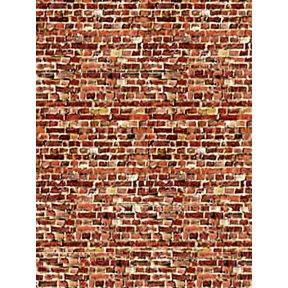 ID Backscenes BM08C Dark Red Brick Building Papers