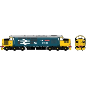 Accurascale Class 37/0 37043 Loch Lomond BR Large Logo Blue With Car Style Headlight