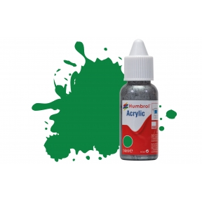 Humbrol No.2 Emerald Green Gloss 14ml Acrylic Paint Dropper Bottle