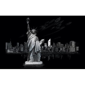 Statue Liberty Engraving Art