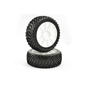 1 8th Pre-mounted buggy Tyres 10 Spoke