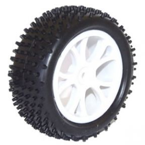 Vantage Front Buggy Tyre Mounted on Wheels (PR) - White